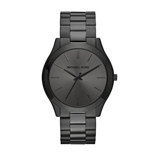 Michael Kors Mens Slim Runway Black Watch MK8507